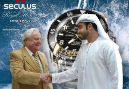 Mr. Ernesto Müller,  Director  of  Seculus  International  SA,  Switzerland,  and  Mr. Mansour  Al Sayegh,  Director  of  Al-Sayegh  Brothers Trading Group, Distributors  of  Seculus  watches,  shaking hands ratifying  their  successful  collaboration  in  the  market during 10 years in the United Arab Emirates.