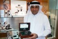 Mr. Ahmed Hassan Al-Emadi with a Seculus Flagship Royal Marine Watch (Limited Edition) in one of Blue Diamond Luxury Boutique in Doha.
